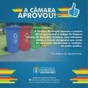 Câmara aprova Projeto de Lei que institui o Código de Limpeza Urbana Municipal