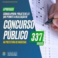 Câmara aprova Projeto de Lei que permite ao municipio realizar  concurso público