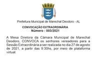 Convocação Extraordinária Nº 003/2021